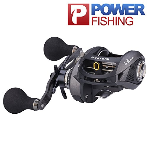 Casting Rods Kayak (Baitcaster Reels, 18LB Drag Bass Fishing Reel for Kayak Bass Fishing Inshore Saltwater Lightweight Freshwater Low Profile Baitcasting Reels with Heavy-duty Surf Bait Casting Rod Combos Left Handed 301)