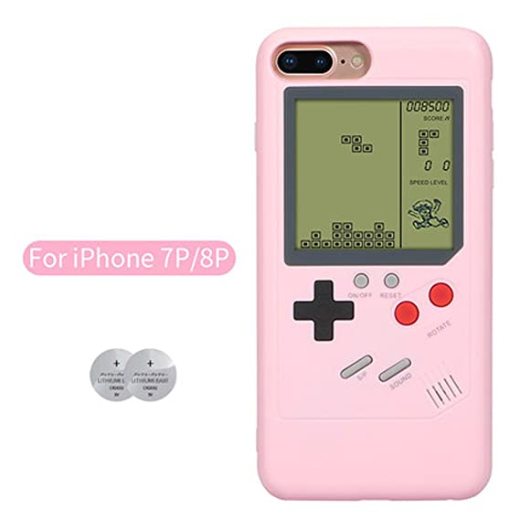 best service 46e42 94523 iPhone8 Plus Game Case Playable Tetris Game Boy Game Case for iPhone7 Plus  Shell TPU Silicone Protective Cover Retro Gameboy iPhone Case (iPhone7/8 ...