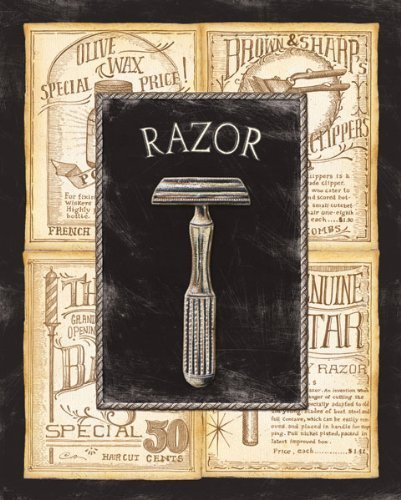 Grooming Razor Bed & Bath Vintage Advertisement Bathroom Old Fashioned Shaving Wall Poster 8X10