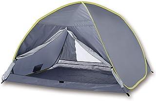THZCMY Tente de Plage escamotable, classée UPF 50+ pour la Protection Contre Les Rayons UV du Soleil Comprend Un Sac de Transport pour Le Voyage 3-4 Personnes abri de Camping pour Plage extérieur