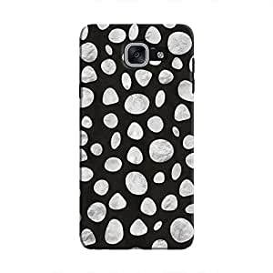 Cover It Up - Diamond Black pebbles Galaxy J7 Max Hard case