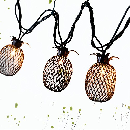 Outdoor Lantern String Lights Bronze - 9