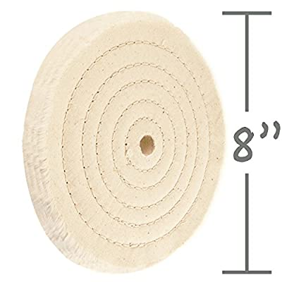"8"" Sewn Cotton Power Buffing Polishing Wheel 5/8"" Arbor Hole"