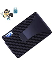 Sale The Ridge Wallet Carbon Fiber Money Clip Minimalist Front Pocket Slim RFID