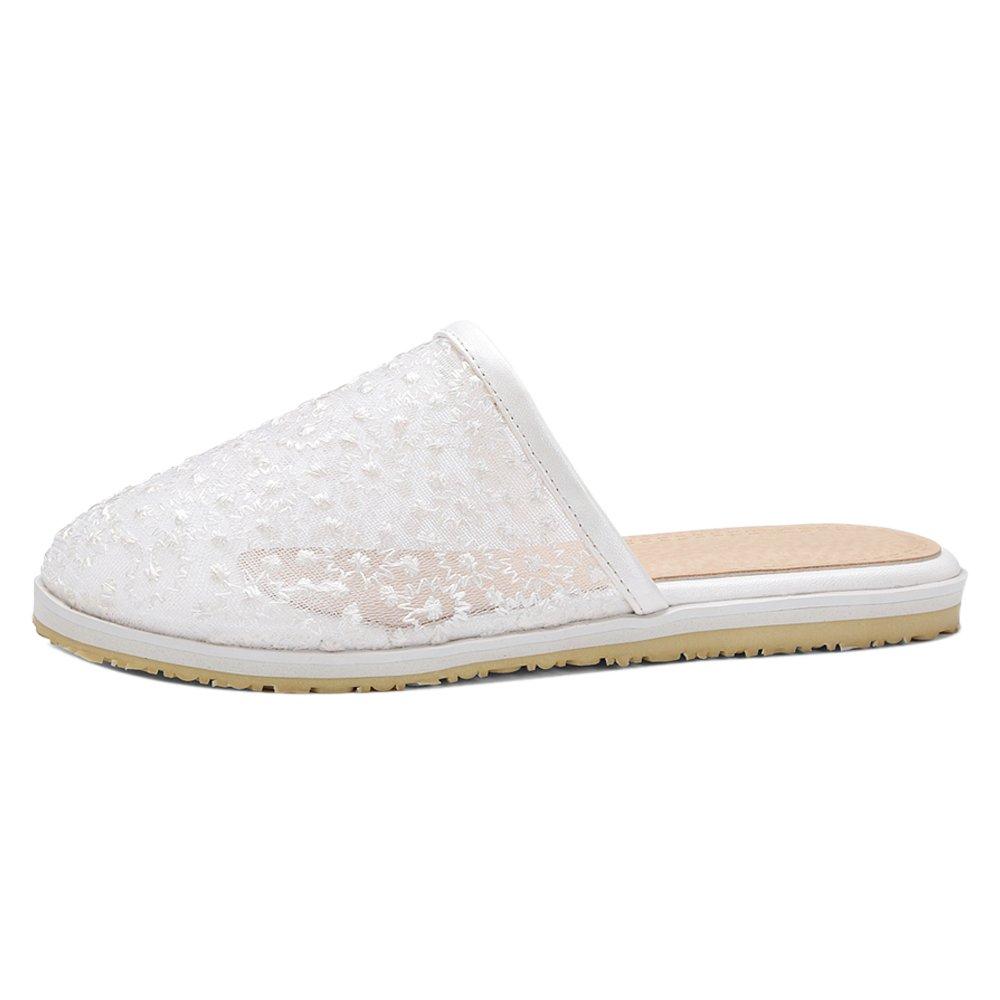 TAOFFEN Damen Clogs Sandalen Sommer Schuhe  39 EU|White