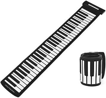 Diyeeni USB Midi Piano Enrollable, portátil 61 Teclas Profesional Midi Teclado a la Moda electrónico de Mano Roll Piano, Tacto Real, sin Unidad, ...