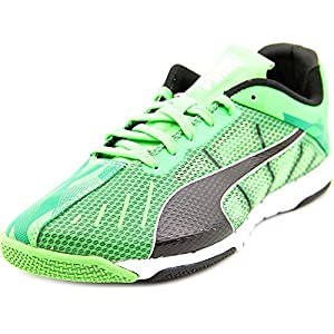 Puma Mens Neon Lite 2.0 Indoor Soccer Shoes 9 US, Fluo Green/Black/White