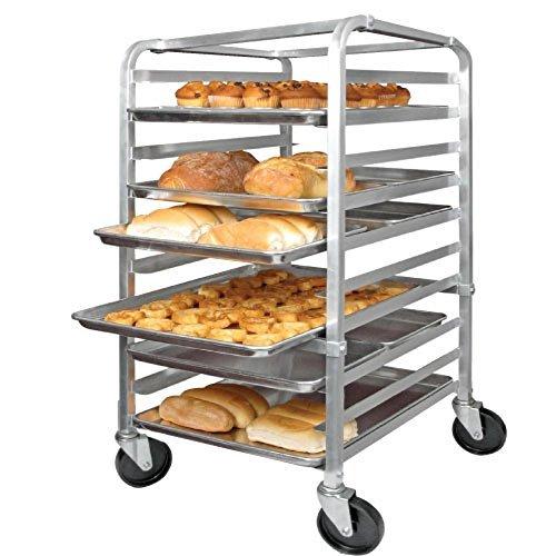 Bun Rack Pan Mobile - 10 Full-Size Mobile Bun Pan Rack by Winco