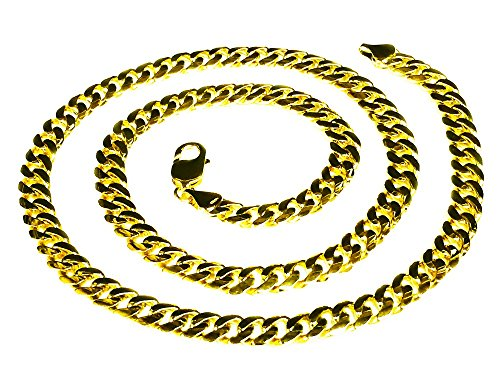 14k Solid Yellow Gold Miami Cuban Curb Link 28'' 8 mm 100 grams chain/Necklace by TEX