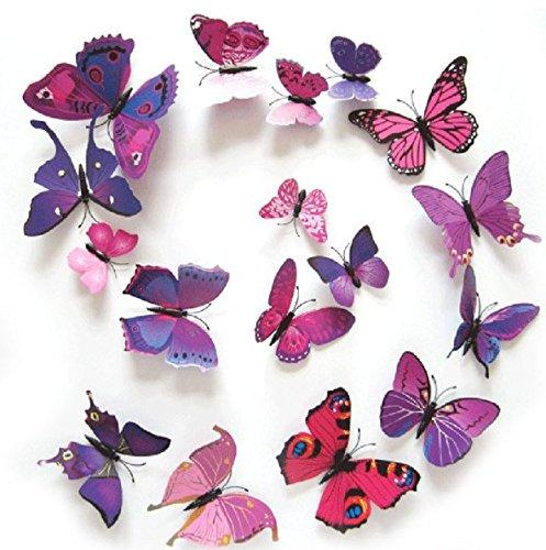 12PCS 3D PVC Magnet Butterflies DIY Wall Sticker Home Decoration - 4
