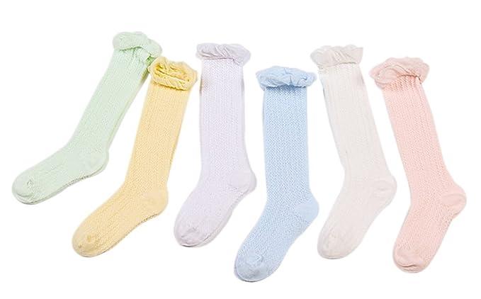 Gespout Calcetines Bebés Algodón Calcetines y Medias Térmicos Hasta Rodilla para Bebé Chica Otoño Cómodo Caliente