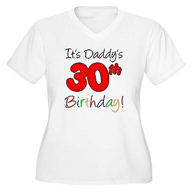1749bbf625 CafePress Its Daddys 30Th B Women's Plus Size V Neck T Shirt Women's Plus  Size V
