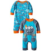 Gerber Baby Boys' Monster Playsuit, Pack of Two, Monster, New Born