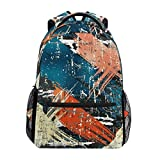 Girls School Backpack Abstract Graffiti Hip Hop College Book Bag Lady Travel Rucksack