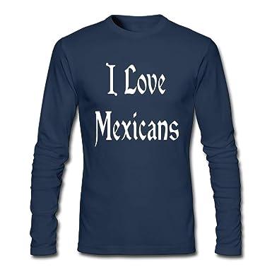 OPO-T I Love Mexicans Hombre Algodón Camisetas: Amazon.es: Ropa y ...