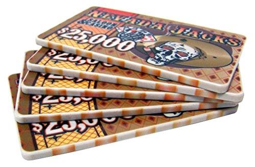 Plaques Poker 40g Ceramic - 5 $25,000 Nevada Jack 40 Gram Ceramic Poker Plaques