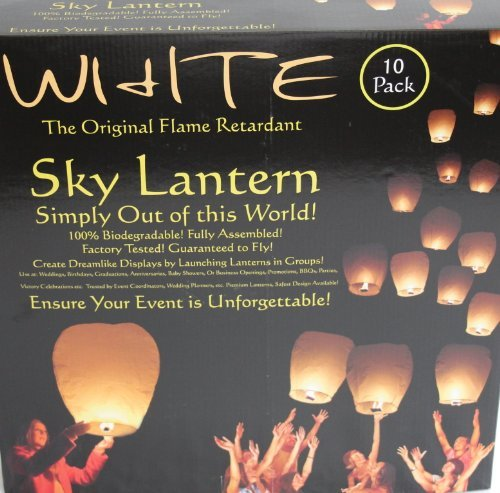 The Original White Sky Lanterns by The Original Sky Lantern