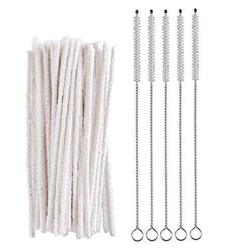 (50 PCS Pipe Cleaners with 5 PCS Cleaning Brush for Pipes,Guns,Tobacco Pipe)