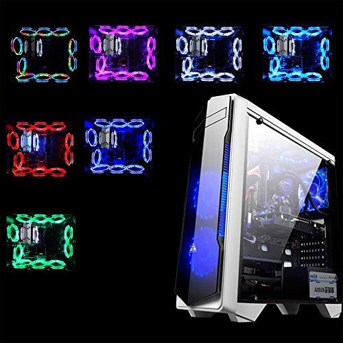 Rgb Light Ultra silencioso Durable Pc de aluminio Enfriador de CPU Ventilador de enfriamiento Ventilador de enfriamiento silencioso Disipador de calor Disipador de calor para computadora Colorido