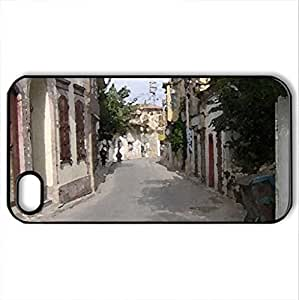 street - Case Cover for iPhone 4 and 4s (Watercolor style, Black) by icecream design