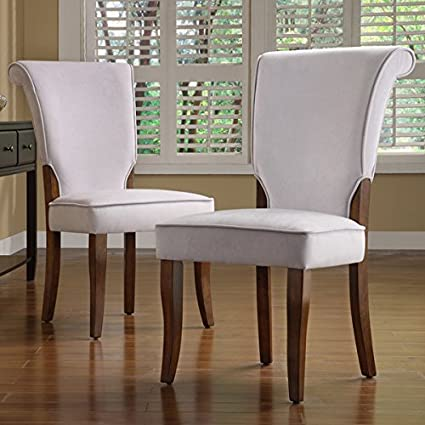 TRIBECCA HOME Andorra Grey Velvet Upholstered Dining Chair Set of 2 & Amazon.com - TRIBECCA HOME Andorra Grey Velvet Upholstered Dining ...
