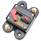 Carviya 100 Amp Circuit Breaker with Manual Reset for Car SUV Marine Boat 12V