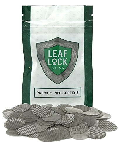 Leaf Lock Gear Premium Stainless Steel Tobacco Pipe Screen Filters - 3/4'' (.75) (250) by Leaf Lock Gear