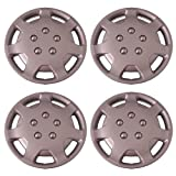 Set of 4 Silver 14 Inch Aftermarket Replacement Hubcaps with Clip Retention System - Part Number: IWCB863/14S by IWC