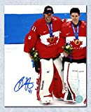 2014 iihf canada jersey - Mike Smith Team Canada Autographed 2014 Olympic Hockey Gold 8x10 Photo