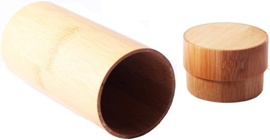 Estuche de gafas, Cilindro de bambú y madera hechos a mano naturales Estuche de gafas, Gafas