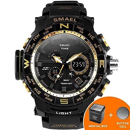 smael serie deporte reloj smael marca relojes LED Digital wristwach multifuncional reloj de los hombres LED