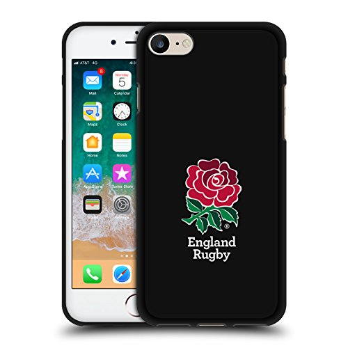 (Official England Rugby Union Home Various Designs Black Soft Gel Case for iPhone 7 / iPhone)