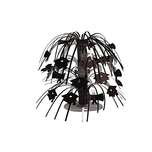 Creative Converting 12-Count Mini Cascade Graduation Centerpieces, Black