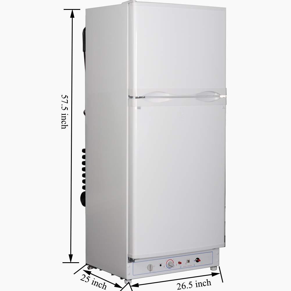 Refrigerador eléctrico de gas Smad con 2 puertas y congelador ...