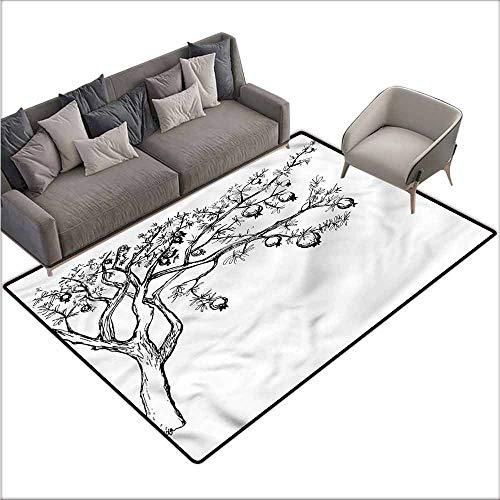 Bathroom Rug Kitchen Carpet Tree,Blossoming Pomegranate Tree 60