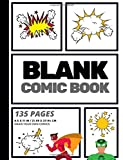 Blank Comic Book: Create Your Own Comic Strip, Blank Comic Panels, 135 Pages, Gray (Large, 8.5 x 11 in.) (Action Comics) (...