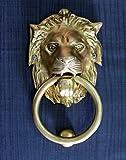 StonKraft Ideal Gift - Beautiful Brass Lion Mouth Door Knocker, Door Accessories, Gate Knocker (6'')