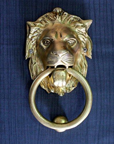 StonKraft Brass Lion Door Knocker Knockers Gate Knocker Door Accessories (Lion 6