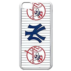 MLB Iphone 5C White New York Yankees cell phone cases&Gift Holiday&Christmas Gifts NBGH6C9125737