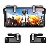Mobile Game Controller【Upgraded Version】- PUBG / Fortnite / Knives Out Mobile Controller, Hill & Wood Sensitive Shoot and Aim Triggers for L1R1 Mobile Game Trigger Joystick for Android & iPhone
