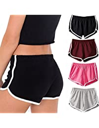 Imixshopps Women Hot Sports Shorts Gym Workout Yoga Short Athletic Elastic Waist