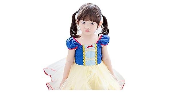 MAXIMGR Bebé niña Blancanieves Vestido de Princesa de Disfraz de ...