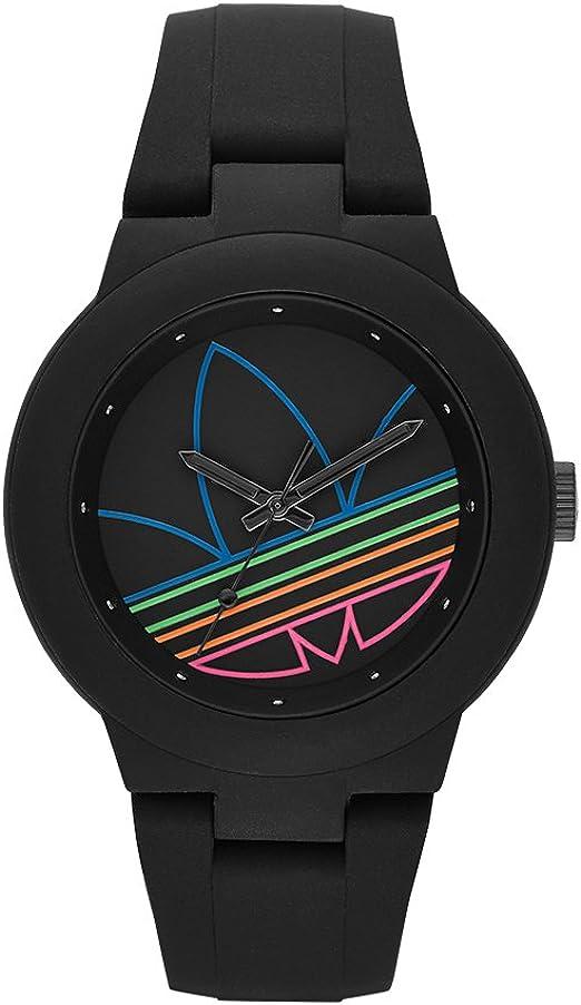 ayer Enriquecimiento cojo  Amazon.com: adidas Originals reloj Casual, Aberdeen, talla única , negro  (Black/Black ADH3014): Adidas: Watches