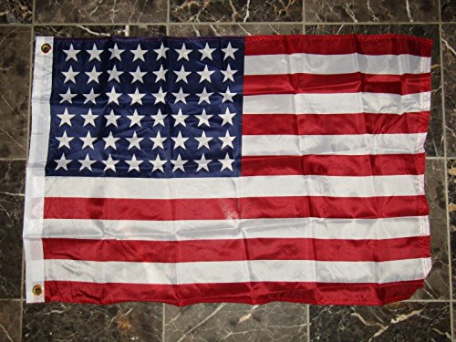 2X3 Historical 48 Star USA American Super Polyester Nylon Fl