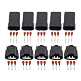 5 Sets Automobile DJ7036F-2.2-11/21 Generator Harness Connector Plug Car Generator Plug Connector
