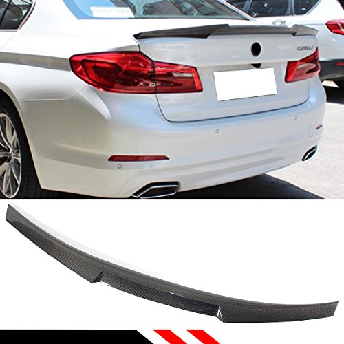 Cuztom Tuning Fits for 2017-2019 BMW G30 530i 540i F90 M5 Highkick Duckbill CF Carbon Fiber Trunk Lid Spoiler Wing- M4 -