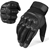 JIUSY Army Military Tactical Touch Screen Rubber Hard Knuckle Full Finger Gloves Combat Motorcycle Motorbike Hunting Hiking Airsoft Paintball Riding