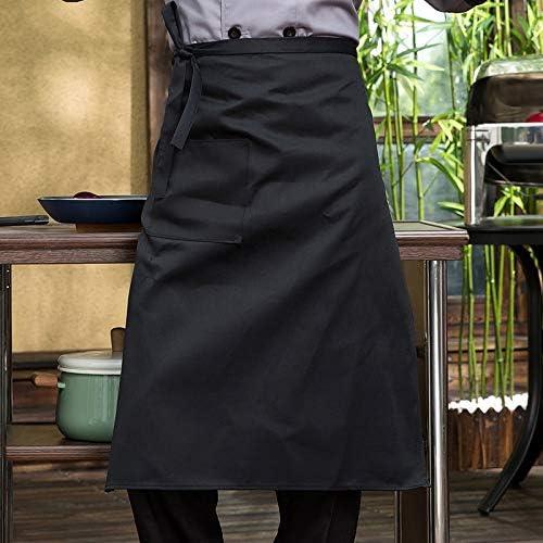 Naliovker Demi Tablier Noir de Cuisinier Materiel de Cuisine Restaurant