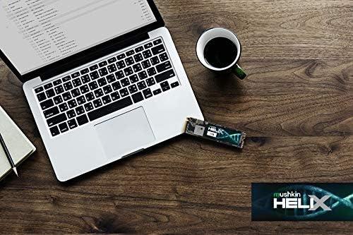 M.2 SSD Gen3 x4 250GB PCIe NVMe 1.3 Mushkin Helix-L 2280 MKNSSDHL250GB-D8 Internal Solid State Drive 3D TLC -