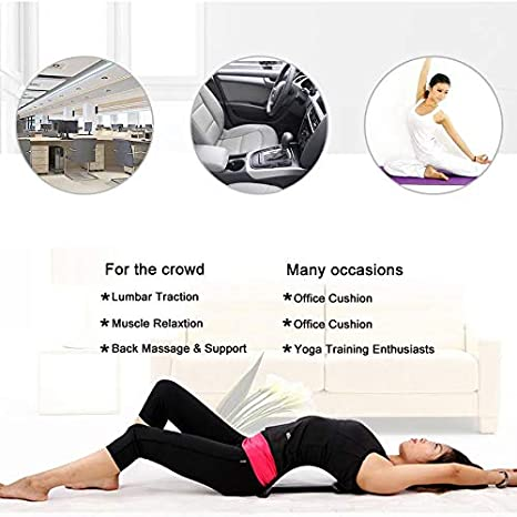 OKM Back Stretch Equipment Massager/ / / Magic Stretcher Fitness Lumbar Support Relaxing Spine Relief Pain Blue Sky